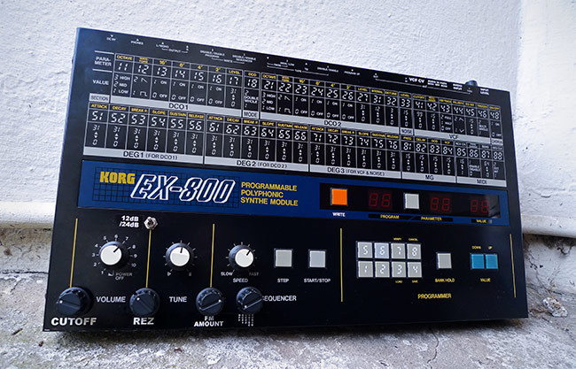 Modified Korg EX800