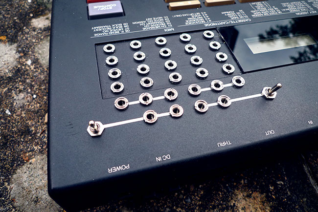 Circuit bent Yamaha RX7 drum machine
