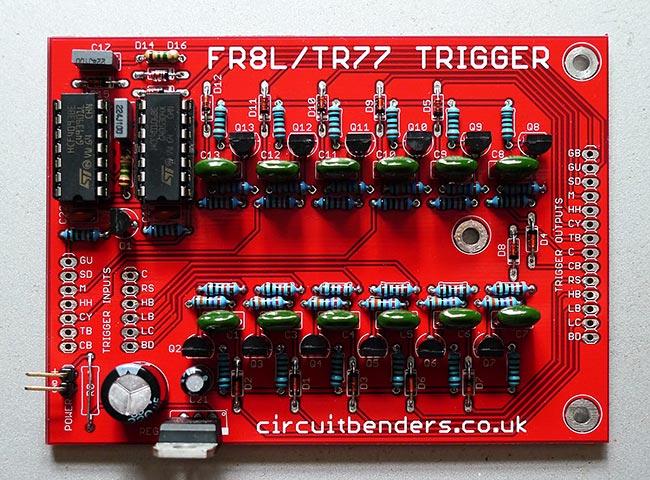circuitbenders fr8l tr77 trigger interface diy pcb. Black Bedroom Furniture Sets. Home Design Ideas